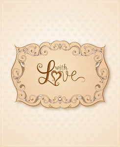 Valentine's Day Vector Illustration With Floral Frame