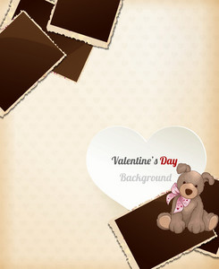Valentine's Day Vector Illustration With Hart And Photo Frame