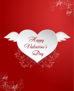 Valentine's Day Vector Illustration With Hart