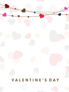 Valentines Day      With Seamless  Hearts Background