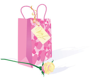 Valentine's Gift With Tag. Vector.