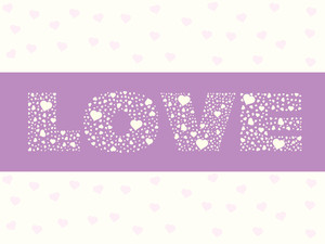 Valentines Heart With Love Notes Wallpaper