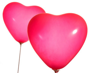 Valentines Red Balloon With Copy Space