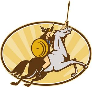 Valkyrie Amazon Warrior Horse Rider