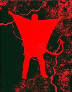 Vampire Character Grunge Background