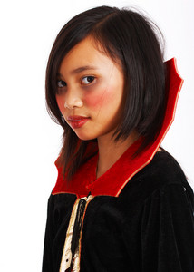 Vampire Costume On A Young Girl