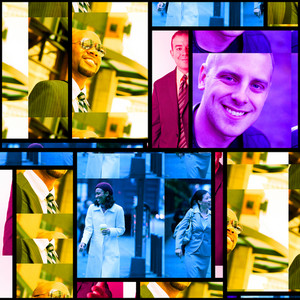 Variety of business people portraits in a collage.