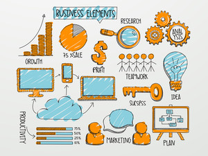 Various business infographic elements for your professional reports and financial presentation.