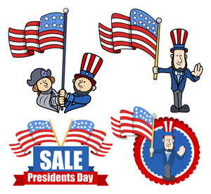 Various Clip Art And Design For Presidents Day