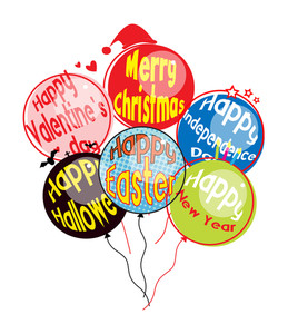 Various Festival Balloons