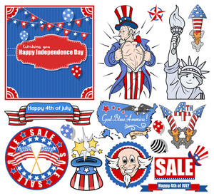 Various Independence Day Vectors Set