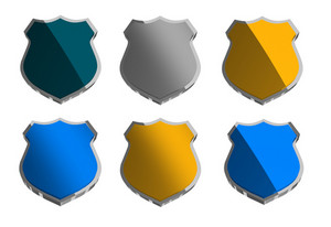 Various Police Shield Badges