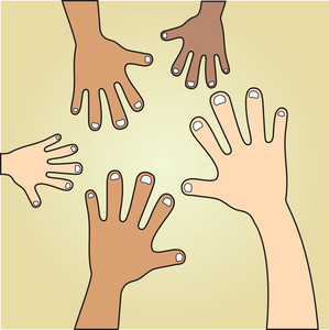 Various Skin Tones Of Hands