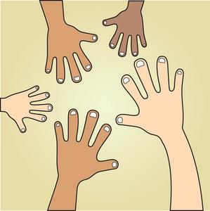 Various Skin Tones Of Hands