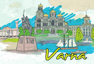 Varna Doodles Vector Illustration
