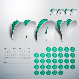 Vector 2012 Calendar Design - May