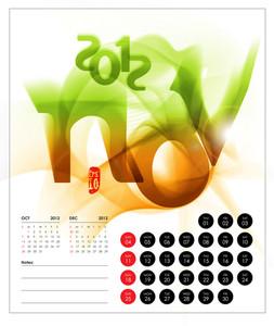Vector 2012 Calendar Design - November