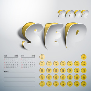 Vector 2012 Calendar Design - September