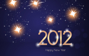 Vector 2012 Greeting Card
