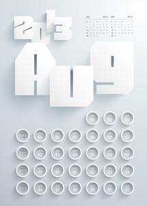 Vector 2013 Calendar Design - August