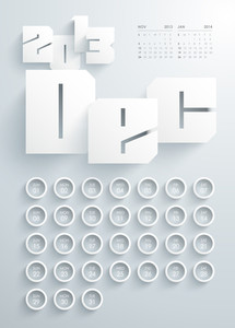Vector 2013 Calendar Design - December