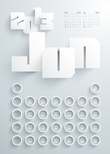 Vector 2013 Calendar Design - June