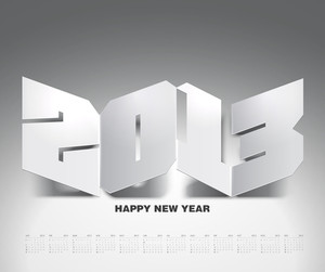 Vector 2013 Calendar Design