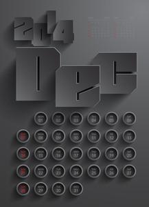 Vector 2014 Calendar Design - December