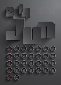 Vector 2014 Calendar Design - June