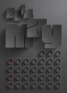 Vector 2014 Calendar Design - May