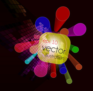 Vector 3d Colorful Background