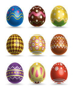 Vector 3d Easter Eggs