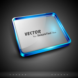 Vector 3d Glass Plate