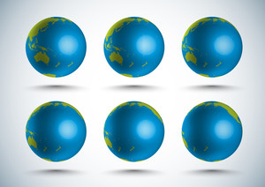 Vector 3d Globe