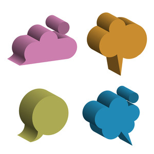 Vector 3d Speech Bubbles
