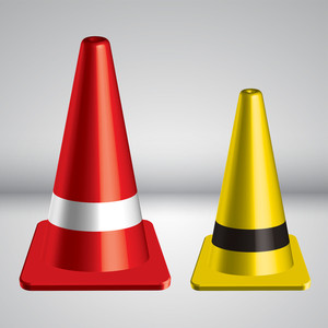 Vector 3d Traffic Pylon