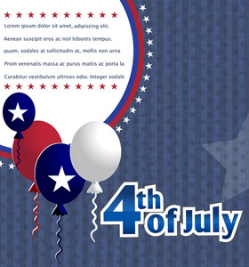Vector 4th Of July Background With Balloons