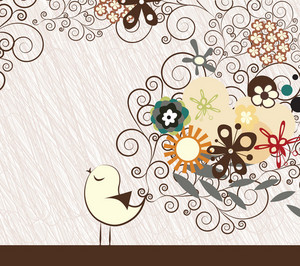 Vector Abstract Background With Bird