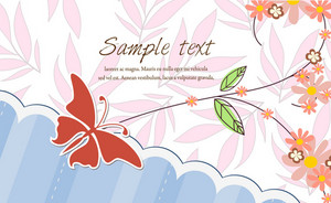 Vector Abstract Background With Butterfly