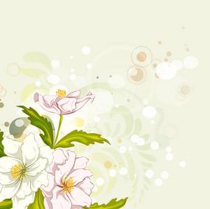 Vector Abstract Background With Colorful Floral