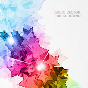 Vector Abstract Background With Colorful Stars