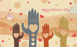 Vector Abstract Background With Hands