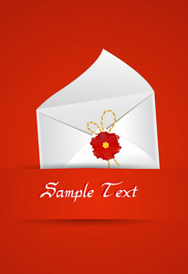 Vector Abstract Background With Mail Icon