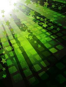 Vector Abstract Background With Rays And Stars