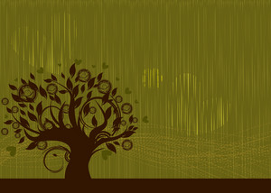 Vector Abstract Background With Tree