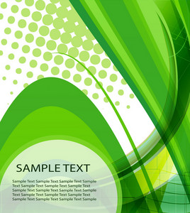 Vector Abstract Background With Waves And Halftone