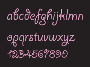 Vector Abstract Candy Font