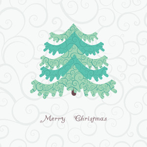 Vector Abstract Christmas Tree