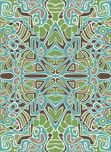 Vector Abstract Design With Mosaic Ornament