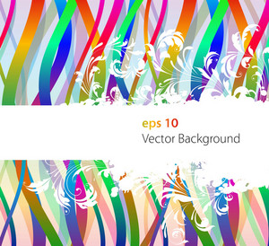Vector Abstract Floral With Colorful Background